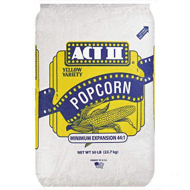 Walt Dfs Act Ii Yellow Variety Popcorn 50 Lb Bag For Machines